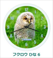 オリジナル壁掛時計「フクロウ ひな 06」 2018