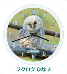 オリジナル壁掛時計「フクロウ ひな 02」 2013