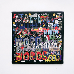"POPY OIL CANVAS PRINT WORKS ""WOW"""