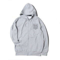 LEAF ZIP HOOD [GRAY]
