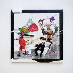 "POPY OIL CANVAS PRINT WORKS ""Blacknote"""