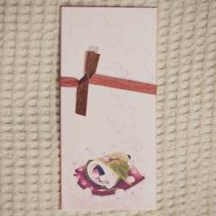透かし和紙一筆箋 桜餅文鳥