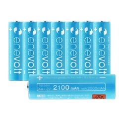 エネボルト(enevolt) 単3 充電池 2100mAh 大容量 ニッケル水素充電池 自然放電軽減 繰り返し約1000回 充電 電池 8本セット