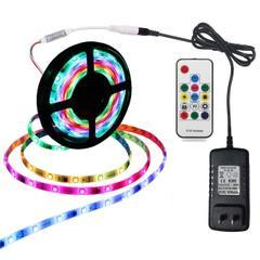 LEDテープライト sunairan 防水ledテープ 5M 150連 2811 IC マジック Ledストリップライト 高輝度 正面発光 切断可能 led RGB 12v電源 リモコン付き
