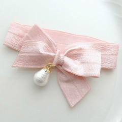 リボンヘアタイ ピンク