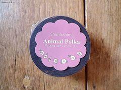 shima*shima マスキングテープ(Animal Polka)