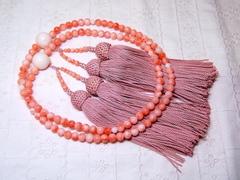 深海サンゴ 5.4mm玉 本連数珠