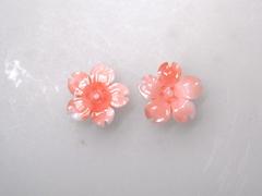 ガーネサンゴ 桜の花のルースペア253