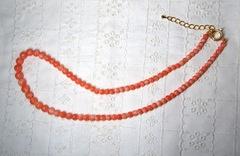 桃サンゴ  グラデーションネックレス