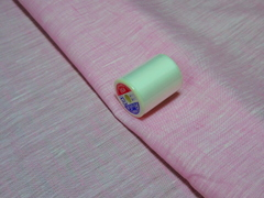 02lin_cham-011:リネンシャンブレー:ピンク