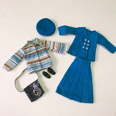 ●SOLD●Fleur フルール 青いお洋服の6点セット