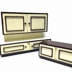●SOLD●【Mサイズ】60s ドイツ レトロな茶色の戸棚セット
