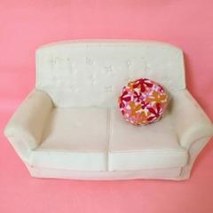 ●SOLD●シンディー 白いソファ&クッション