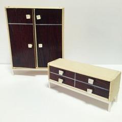 ●SOLD●【Mサイズ】60s ドイツ レトロな茶色の家具セット