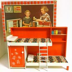 ●SOLD●【Lサイズ】70's イタリア レトロなベッドルームユニット 箱付