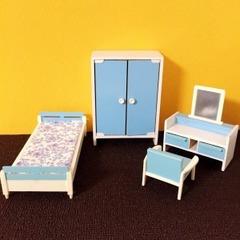 ●SOLD●【Mサイズ】60s-70s ドイツ 水色の家具セット
