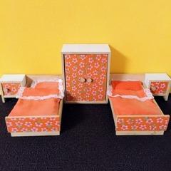 ●SOLD●【Mサイズ】60s-70s ドイツ オレンジの家具セット