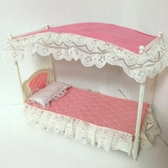 ●SOLD●【Lサイズ】バービーサイズ 天蓋付きベッド