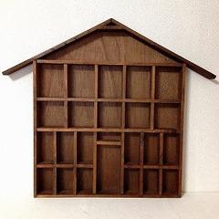 ●SOLD●ヴィンテージ ハウス型壁掛け飾り棚 B