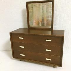 ●SOLD●バービー 1958 モダン木製家具 鏡&チェスト