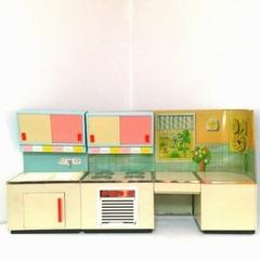 ●SOLD●【Lサイズ】1950s ドイツ ブリキのキッチン