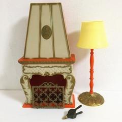 ●SOLD●【Lサイズ】イタリア  ロマンチックな暖炉とランプ