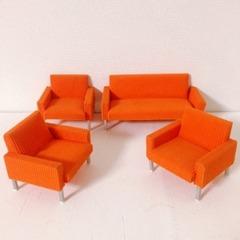 ●SOLD●【Mサイズ】70s ドイツ オレンジのソファセット