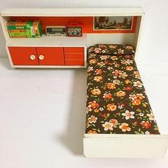 ●SOLD●【Lサイズ】70's イタリア レトロなベッドルームユニット オレンジ