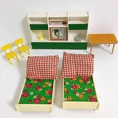 ●SOLD●【Sサイズ】ドイツ 緑のベッドルームセット