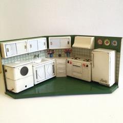 ●SOLD●【Mサイズ】1950s イタリア ブリキのキッチン