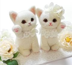 ★受注制作★ウェルカム猫セット(12cmサイズ)洋テイスト