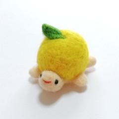 羊毛お洒落なかめさんピンクッション(レモン)