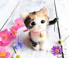 ★受注制作★猫うちの子オーダー・とら猫、三毛猫、柄猫(7cmサイズ)