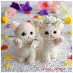 ウェルカム白猫招き猫・ウェディングセット