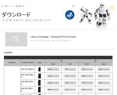 DYNAMIXELPRO製品CADデータダウンロード