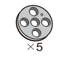 Pulley-Circle-L (SPO-4PR(GR)) 5pcs[913-1013-020]