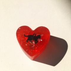 恋愛成就:ハート型オルゴナイト赤3