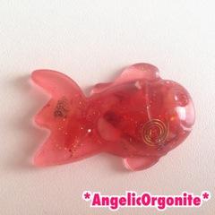 金魚型ミニ置物赤1