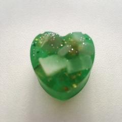 ハート型オルゴナイトグリーン1