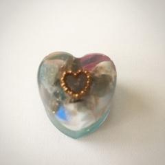 運命の人を引き寄せる:ハート型オルゴナイト水色1
