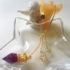 イヤーフック型オルゴナイト紫