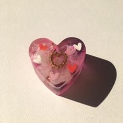 結婚に導く:ハート型オルゴナイト紫2