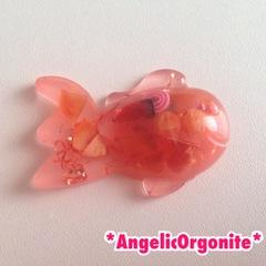 金魚型ミニ置物オレンジ1
