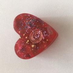 ハート型オルゴナイト赤1