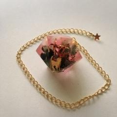 金運結婚運アップ:ペンジュラム型オルゴナイトピンク2