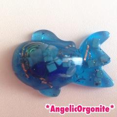 金魚型ミニ置物青1