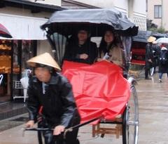 【中古】雨用人力車座席カバーシート
