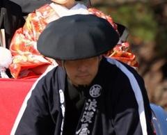 黒まんじゅう笠 小(直径34㎝) (饅頭傘)