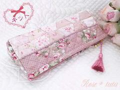 【キット】台形パターンのペンケース(ピンク)再販