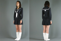 セーラーレオタード(冬服)クロッチファスナー付き【レディース】